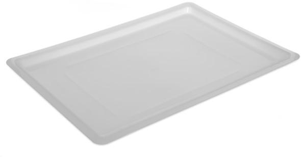 "18"" x 26"" White Polycarbonate Food Storage Box Lid"