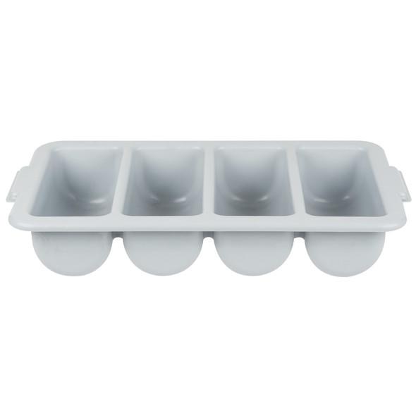 4-Compartment Polyethylene Cutlery Box - Grey