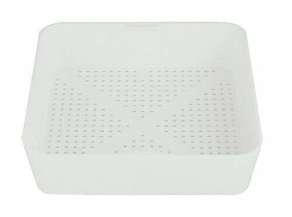 """8.5"""" x 8.5"""" x 2.25"""" Plastic Floor Drain Strainer with 1/8"""" Perforations"""