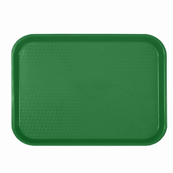 """10.5"""" x 13.63"""" Cafeteria Fast Food Trays - Green"""