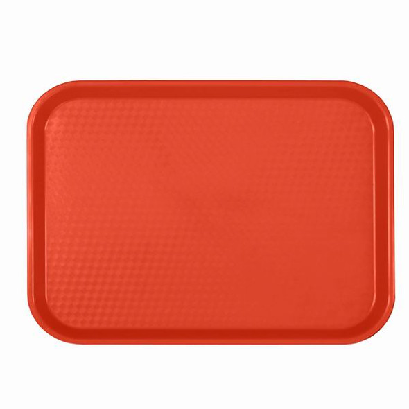 """12"""" x 16.25"""" Cafeteria Fast Food Trays - Red"""