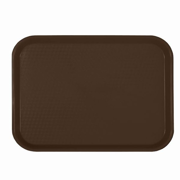 """14"""" x 17.75"""" Cafeteria Fast Food Trays - Brown"""