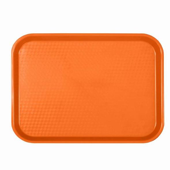 "14"" x 17.75"" Cafeteria Fast Food Trays - Orange"