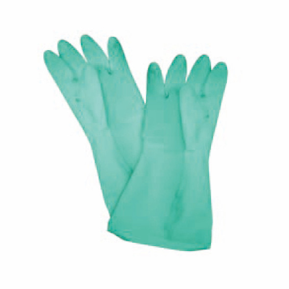 """Commercial Rubber Latex Utility Gloves - Green (12"""" x 3.88"""")"""