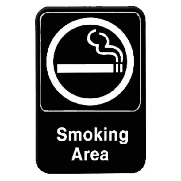 """(Black, 6"""" x 9"""") """"Smoking Area"""""""