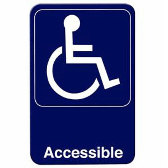 """(Blue, 6"""" x 9"""") """"Accessible"""""""