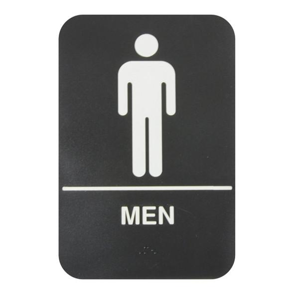 "(Black, 6"" x 9"") ""Men"""