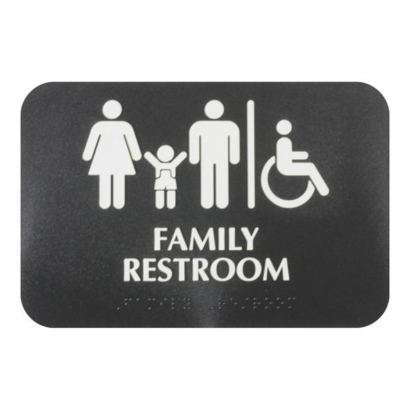 """(Black, 6"""" x 9"""") """"Family Restroom"""""""