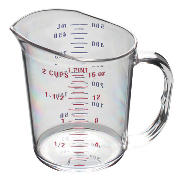1 Pint/0.5 Liter, Polycarbonate Measuring Cups