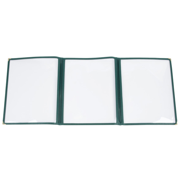 """8.5"""" x 11"""" Three Page, Double Fold, Menu Cover - Green"""