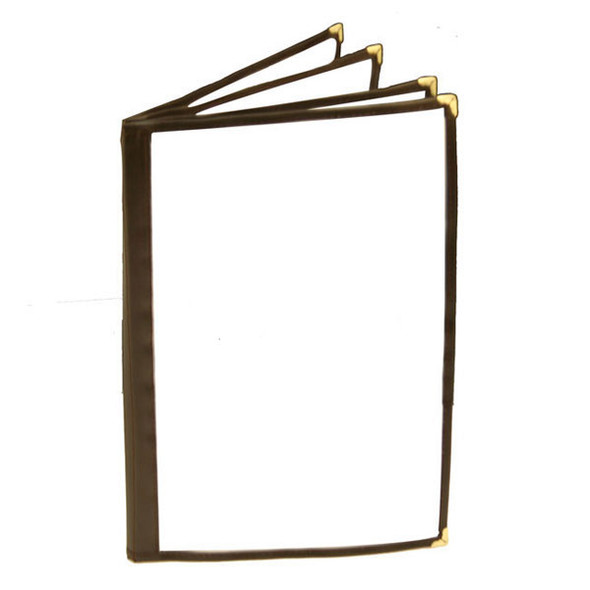 """8.5"""" x 14"""" 4 Page, Book Fold, Menu Cover - Brown"""