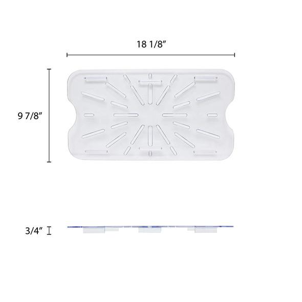 Full Size Clear Polycarbonate Food Pan Drain Shelf