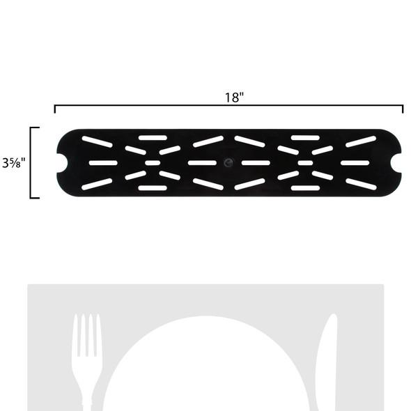 Half Size Long Black Polycarbonate Food Pan Drain Shelf