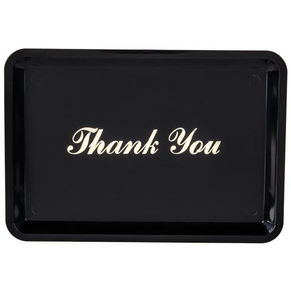 """Thank you"" Tip Trays - Black (PLPT046BL)"