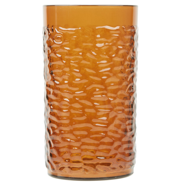 16 oz Pebbled Textured SAN Plastic Tumbler - Amber (PLPTB016A)