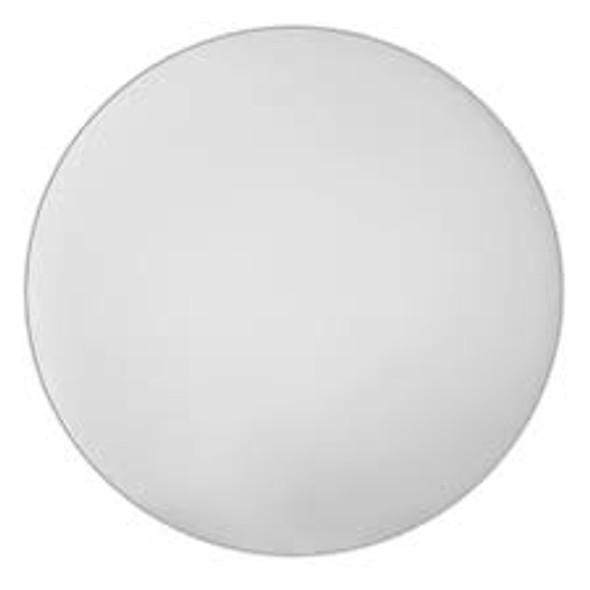 "14"" Round White Polyethylene Cutting Board"