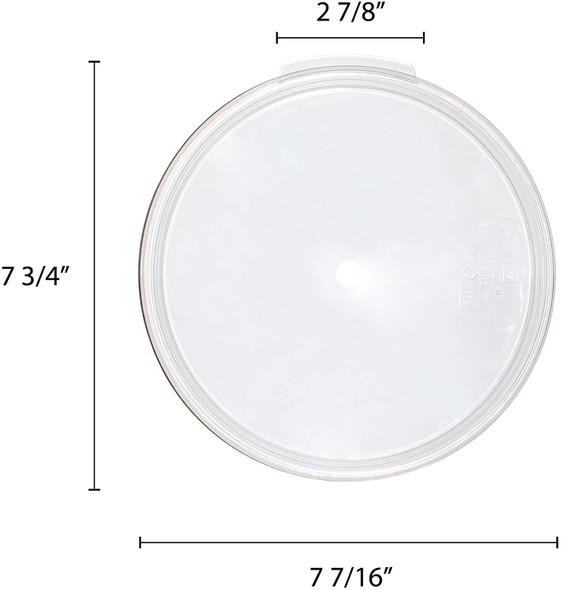2 & 4 qt Clear Round Polycarbonate Food Storage Container Lid (PLRFC0204PC)
