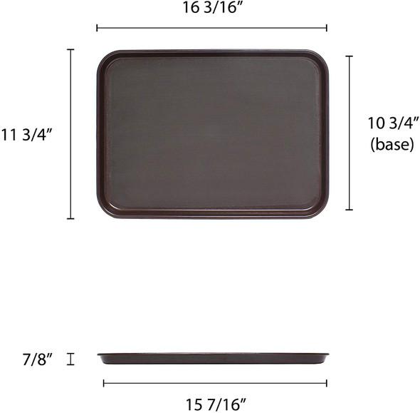 """16"""" x 12"""" Rectangular Non-Skid Serving Tray (PLRT1612)"""