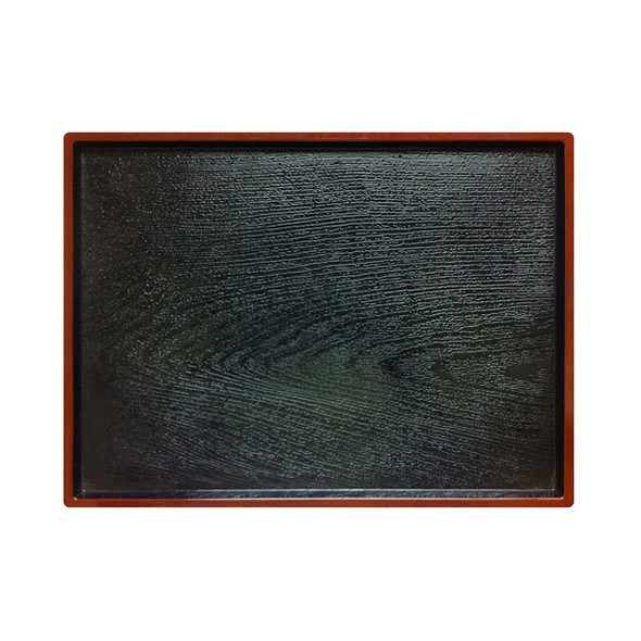 """Thunder Group PLA013 Rectangular Lacquered Obon Serving Tray 12"""" x 9.5"""""""