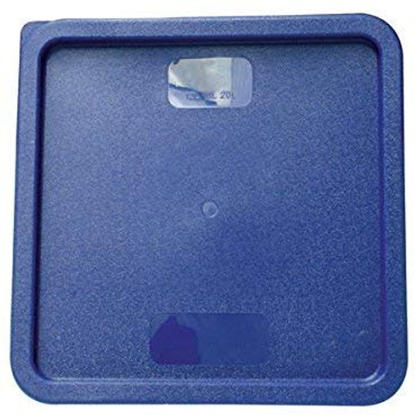 Square Polyethylene Food Storage Container Lid - Blue, Fits 12, 18, & 22 QT (PLSFT121822C)
