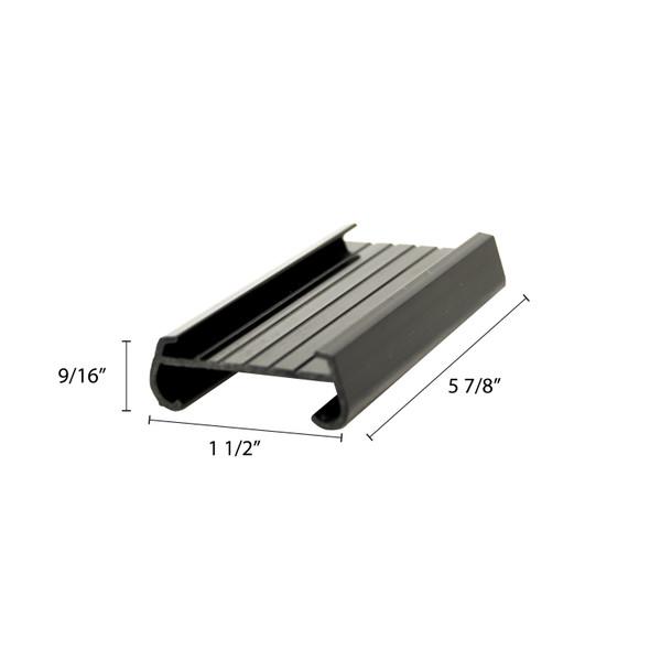 "6"" Snap-On Wire Shelf Label Holder - 4/Pack (PLSL006BK)"