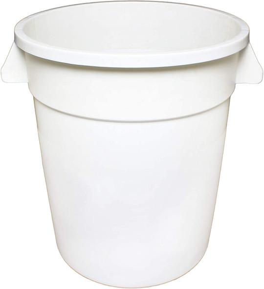 Polyethylene Trash Can - White