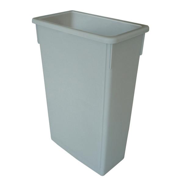23 Gallon Slim Trash Can - Grey (PLTC023G)