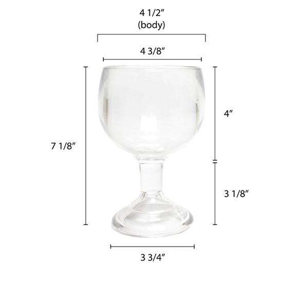24 oz Plastic Schooner Glass (PLTHSN024C)