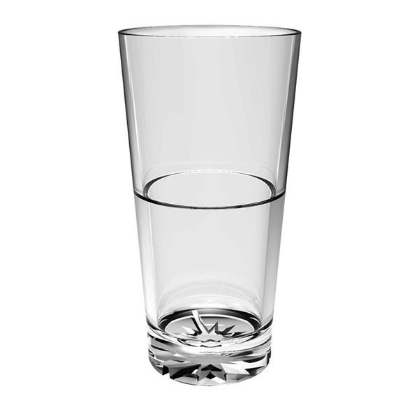 Plastic Starburst Tumbler Glass (PLTHST2)