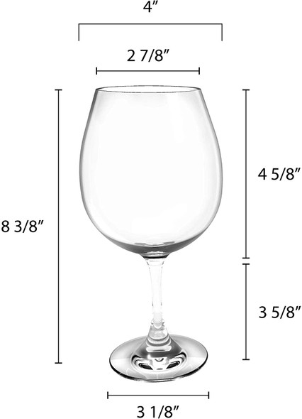 Thunder Group PLTHWG025RC 25 oz Polycarbonate Red Wine Glass