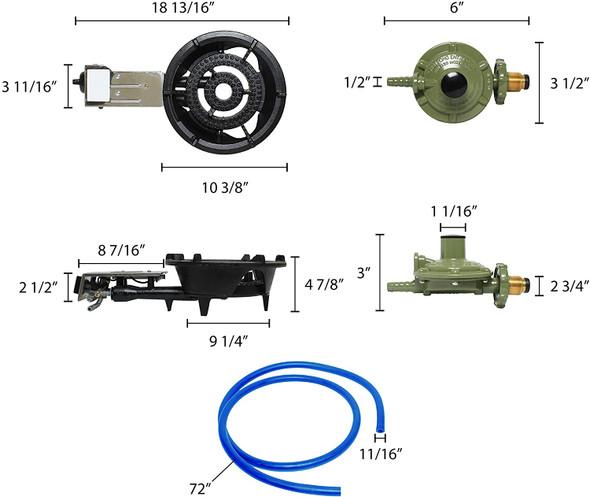 HL-202 Propane Gas Fast Stove (16,800 BTU) (Thunder Group IRFS002)
