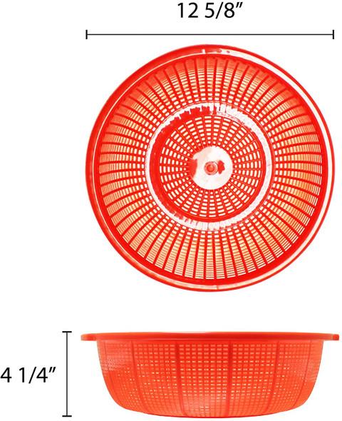 """12.5"""" Round Polyethylene Colander Basket (PLWB001)"""