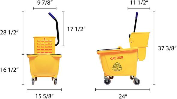 36 Qt. Mop Bucket & Side Press Wringer Set (PLWB361)