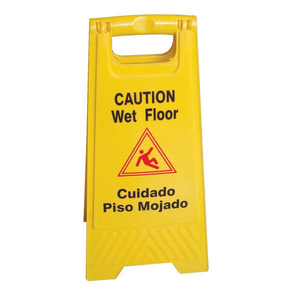 "24"" Fold-Up Wet Floor Sign, Multi-Lingual Caution (PLWFC024)"