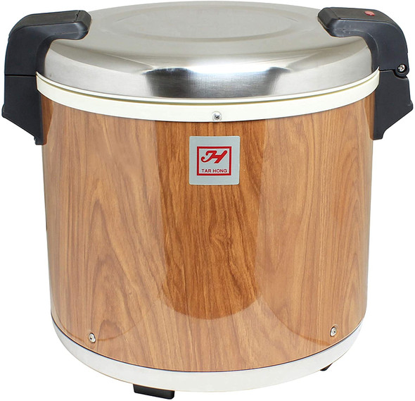 Thunder Group SEJ21000 50 Cup Rice Warmer with Wood Grain Finish