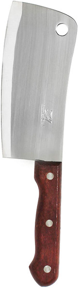 """6"""" Stainless Steel Asian Cleaver w/ Riveted Wood Handle (THOW189)"""