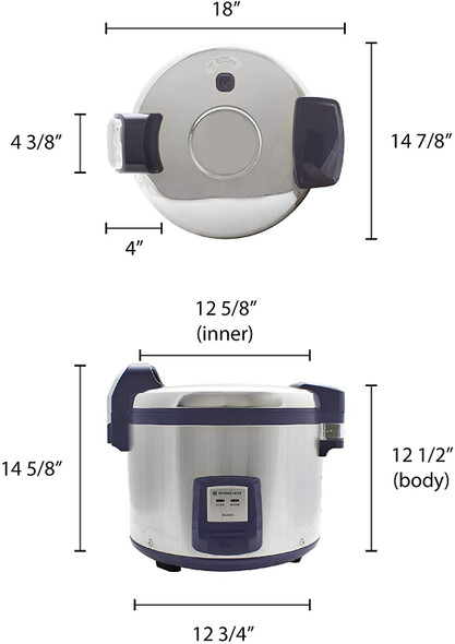 Commercial 60 Cup Stainless Steel Electric Rice Cooker/Warmer