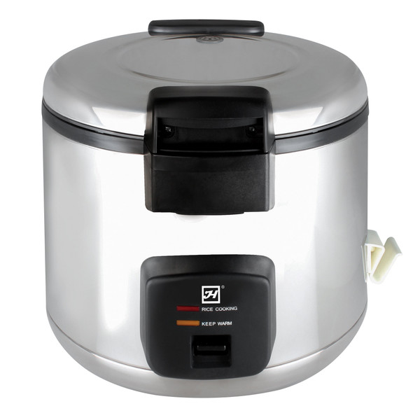 Thunder Group SEJ60000 66 Cup (33 Cup Raw) Stainless Steel Electric Rice Cooker / Warmer