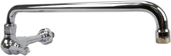 """Wall Mount Manual Wok Faucet w/ 14"""" Swing Spout"""