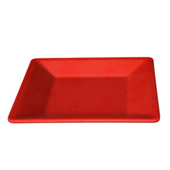 """Thunder Group Passion Red, 13.75"""" Square Melamine Plate (PS3214RD)"""