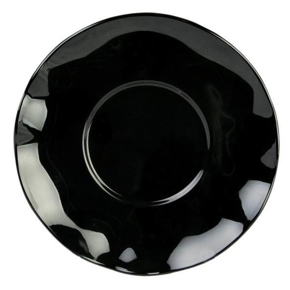 """Thunder Group Black Pearl, 6.5"""" Round Melamine Saucer (RF1065BW)"""