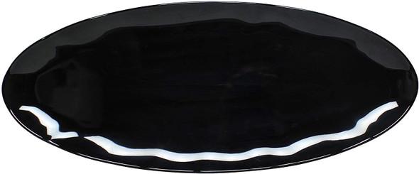 """Thunder Group Black Pearl, 24"""" x 10"""" Rectangular Melamine Platter (RF2024BW)"""