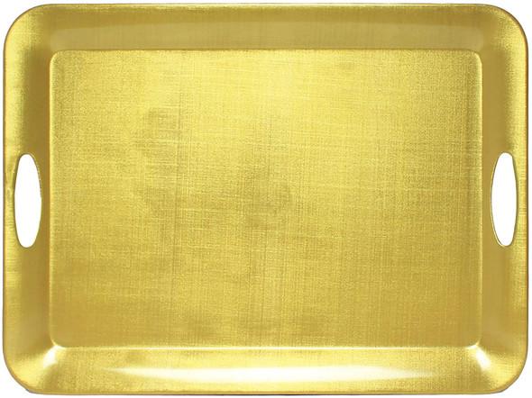 "Thunder Group Gold Pearl, 19"" x 14"" Melamine Service Tray (RF2920G)"