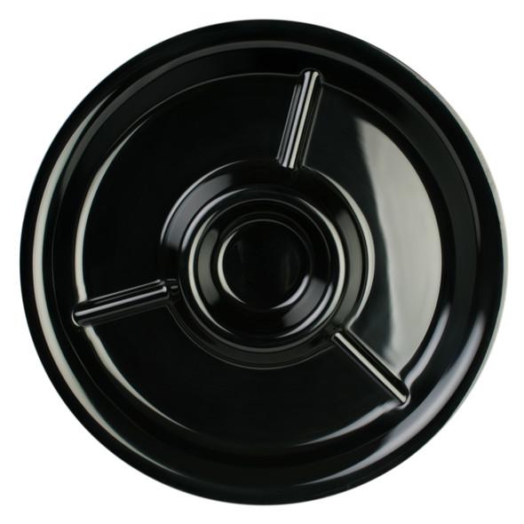 """Thunder Group Black Pearl, 14.5"""" Round Melamine Appetizer Platter (RF6016BW)"""