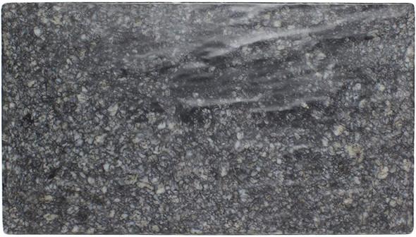 "Thunder Group SB514N 14.75"" x 8.25"" Onyx Faux Marble Melamine Serving Board"