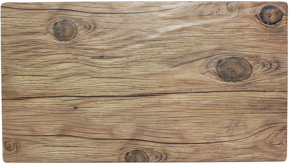 """Thunder Group SB514S 14.75"""" x 8.25"""" Sequoia Faux Wood Melamine Serving Board"""
