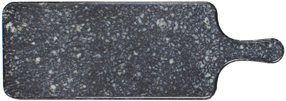 """Thunder Group SB612N 12.5"""" x 5.5"""" Onyx Faux Marble Melamine Serving Board with Handle"""