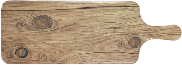 """Thunder Group SB612S 12.5"""" x 5.5"""" Sequoia Faux Wood Melamine Serving Board with Handle"""