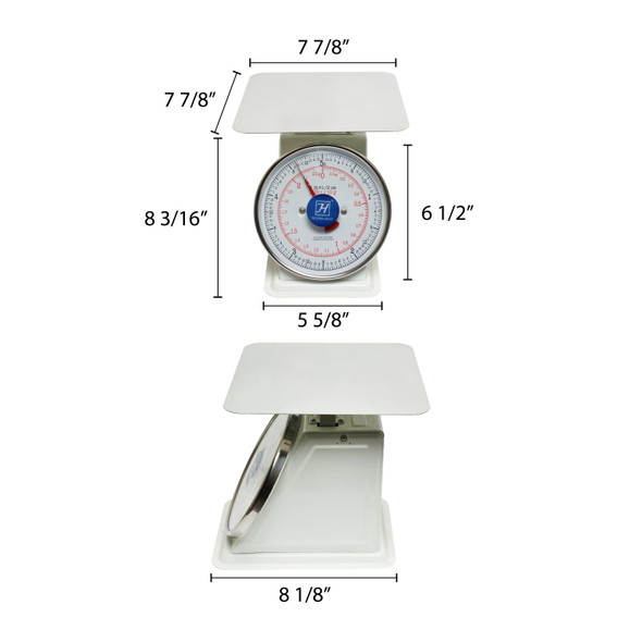 Thunder Group SCSL002 5 lb. Mechanical Dial Portion Control Scale GT-3
