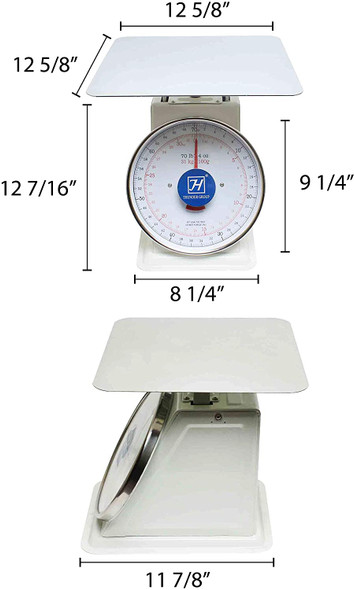 Thunder Group SCSL006 70 lb. Mechanical Dial Portion Control Scale GT-70
